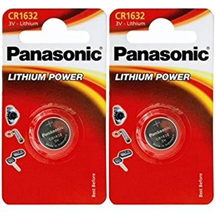 Panasonic 1632 CR1632 2 Stück Batterien Lithium 3 V