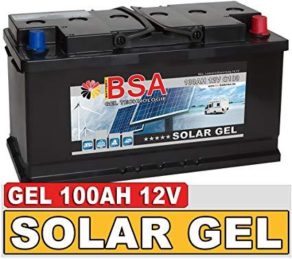 BSA Solarbatterie Gel Batterie