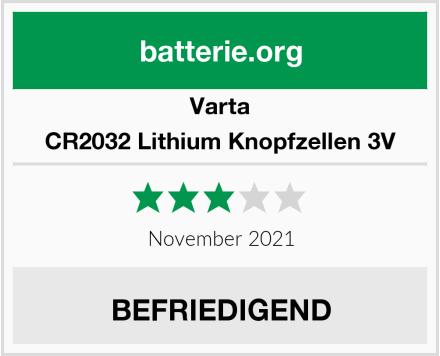 Varta CR2032 Lithium Knopfzellen 3V Test