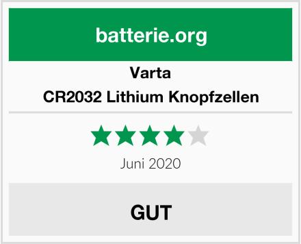 Varta CR2032 Lithium Knopfzellen Test