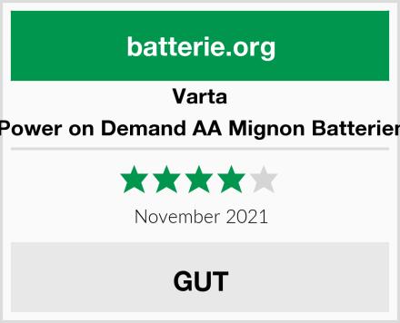 Varta Power on Demand AA Mignon Batterien Test