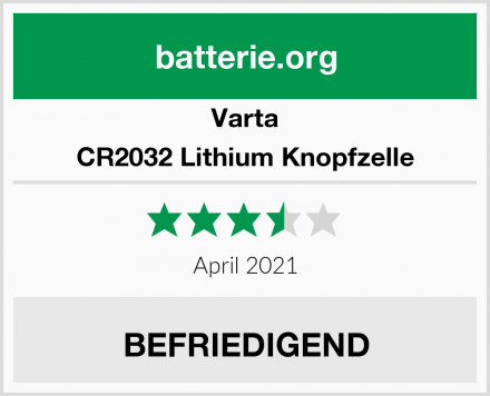 Varta CR2032 Lithium Knopfzelle Test