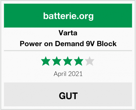 Varta Power on Demand 9V Block Test