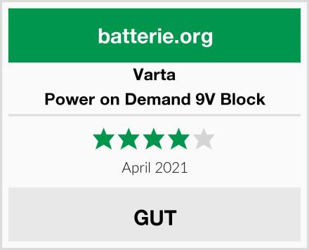 Varta Power on Demand 9V Block Test