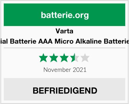 Varta Industrial Batterie AAA Micro Alkaline Batterien LR03 Test
