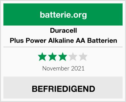 Duracell Plus Power Alkaline AA Batterien Test