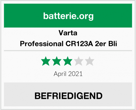 Varta Professional CR123A 2er Bli Test