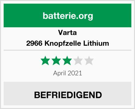 Varta 2966 Knopfzelle Lithium Test