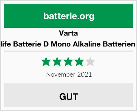 Varta Longlife Batterie D Mono Alkaline Batterien LR20 Test