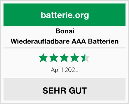 Bonai Wiederaufladbare AAA Batterien Test