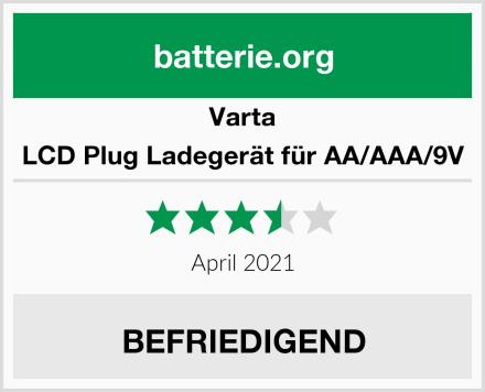 Varta LCD Plug Ladegerät für AA/AAA/9V Test