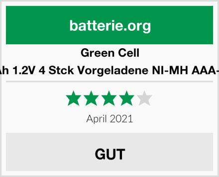 Green Cell 800mAh 1.2V 4 Stck Vorgeladene NI-MH AAA-Akkus Test