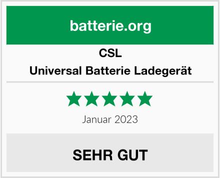 CSL Universal Batterie Ladegerät Test
