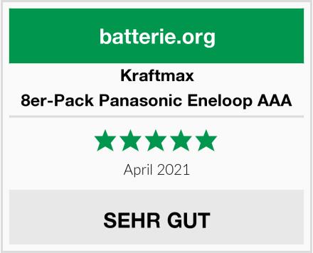 Kraftmax 8er-Pack Panasonic Eneloop AAA Test