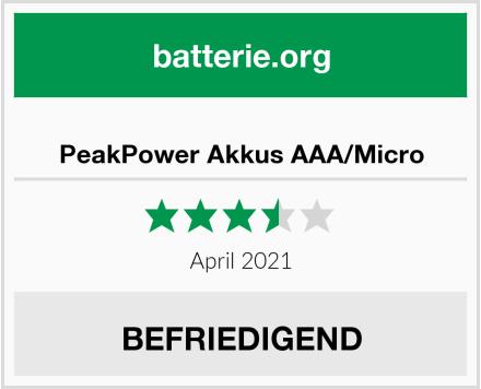 No Name PeakPower Akkus AAA/Micro Test