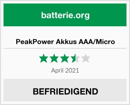 PeakPower Akkus AAA/Micro Test