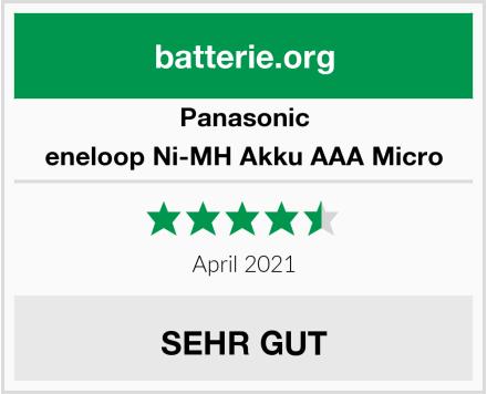 Panasonic eneloop Ni-MH Akku AAA Micro Test