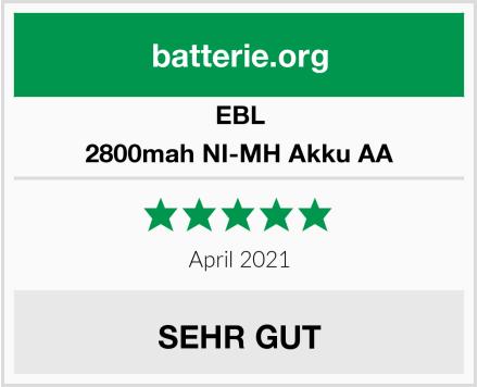 EBL 2800mah NI-MH Akku AA Test