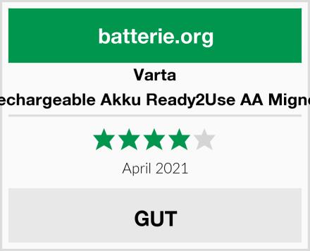 Varta Rechargeable Akku Ready2Use AA Mignon Test