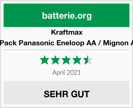 Kraftmax 16er-Pack Panasonic Eneloop AA / Mignon Akkus Test