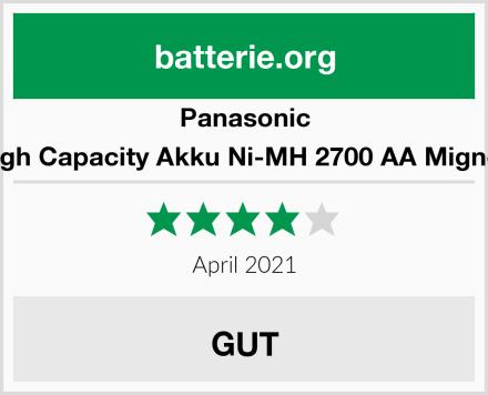 Panasonic High Capacity Akku Ni-MH 2700 AA Mignon Test