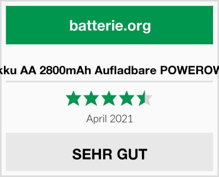 Akku AA 2800mAh Aufladbare POWEROWL Test