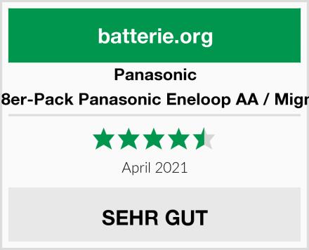 Panasonic Kraftmax 8er-Pack Panasonic Eneloop AA / Mignon Akkus Test