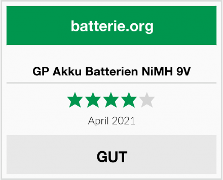 GP Akku Batterien NiMH 9V Test