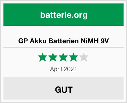 GP Akku Batterien NiMH 9V Test