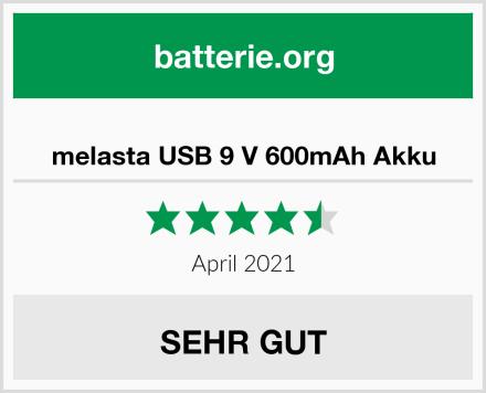 melasta USB 9 V 600mAh Akku Test