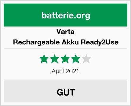 Varta Rechargeable Akku Ready2Use Test