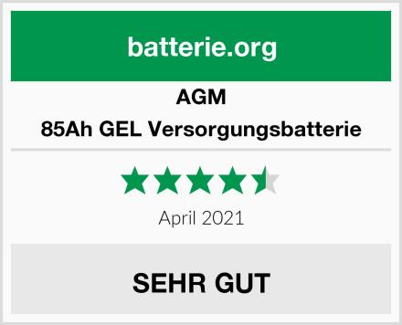 AGM 85Ah GEL Versorgungsbatterie Test