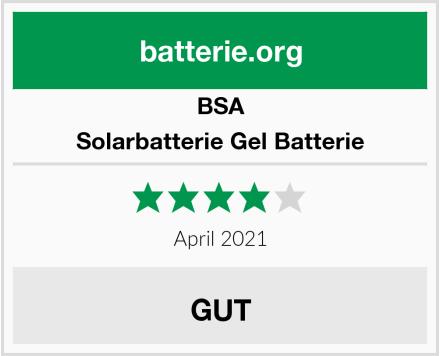 BSA Solarbatterie Gel Batterie Test