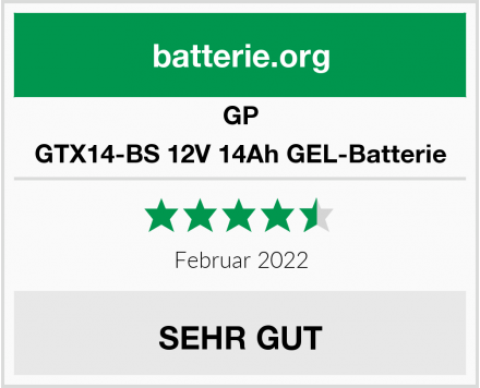 GP GTX14-BS 12V 14Ah GEL-Batterie Test