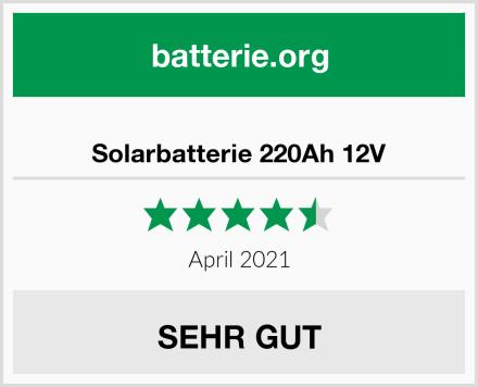 Solarbatterie 220Ah 12V Test