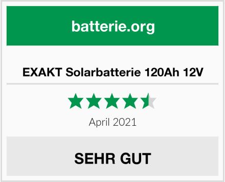 EXAKT Solarbatterie 120Ah 12V Test