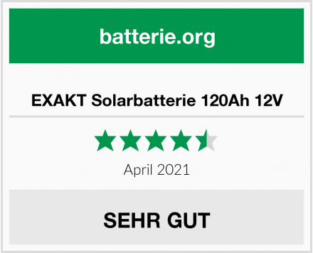 No Name EXAKT Solarbatterie 120Ah 12V Test