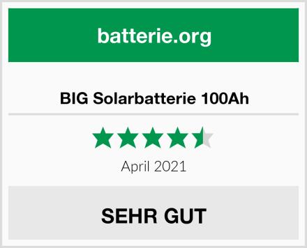 BIG Solarbatterie 100Ah Test