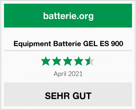 Equipment Batterie GEL ES 900 Test