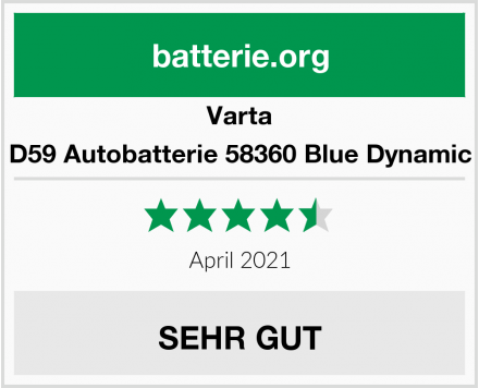 Varta D59 Autobatterie 58360 Blue Dynamic Test