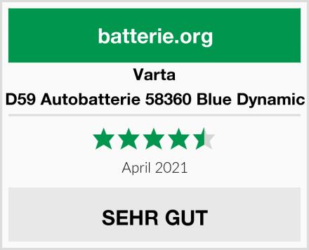 Varta D59 Autobatterie 58360 Blue Dynamic Test
