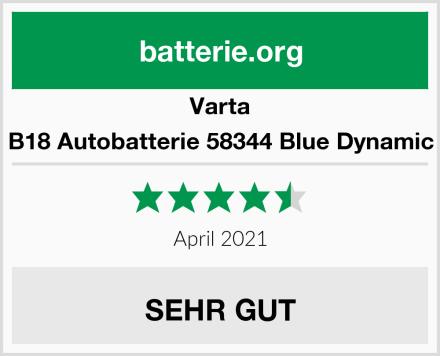 Varta B18 Autobatterie 58344 Blue Dynamic Test