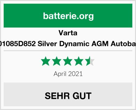 Varta 595901085D852 Silver Dynamic AGM Autobatterie Test