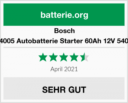 Bosch S4005 Autobatterie Starter 60Ah 12V 540A Test