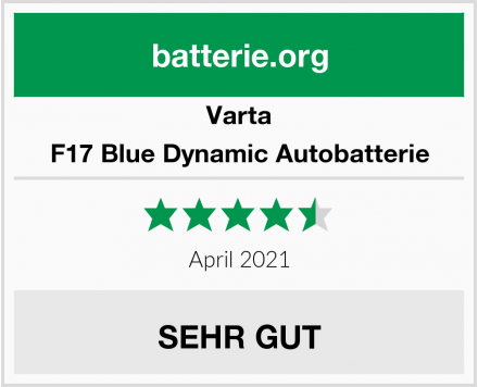 Varta F17 Blue Dynamic Autobatterie Test