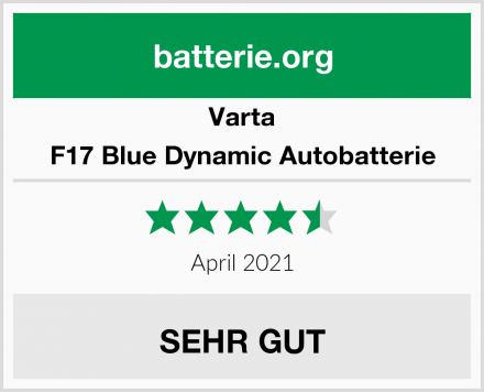 Varta F17 Blue Dynamic Autobatterie Test