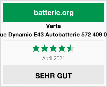 Varta Blue Dynamic E43 Autobatterie 572 409 068 Test