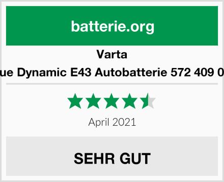 Varta Blue Dynamic E43 Autobatterie 572 409 068 Test
