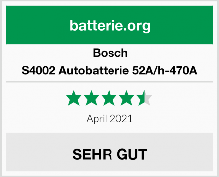 Bosch S4002 Autobatterie 52A/h-470A Test