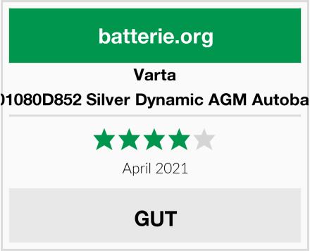 Varta 580901080D852 Silver Dynamic AGM Autobatterie Test